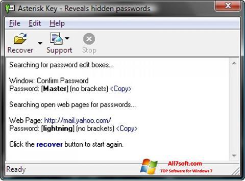 Skærmbillede Asterisk Key Windows 7
