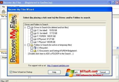 Skærmbillede Recover My Files Windows 7