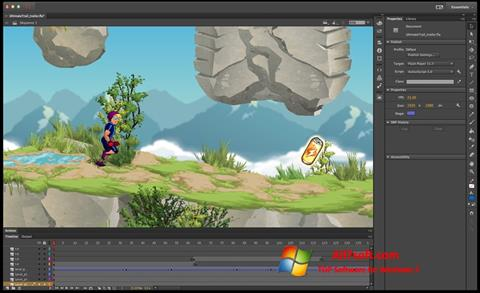 Skærmbillede Adobe Flash Professional Windows 7