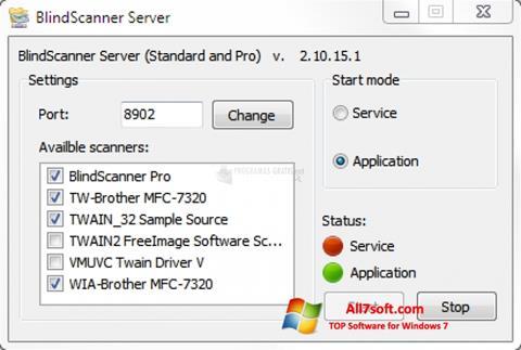 Skærmbillede BlindScanner Windows 7