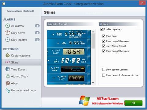 Skærmbillede Atomic Alarm Clock Windows 7
