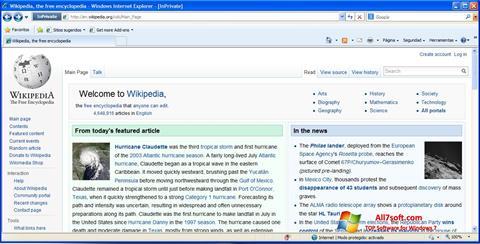 Skærmbillede Internet Explorer Windows 7