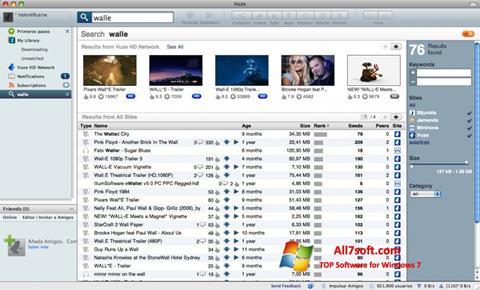 Skærmbillede Vuze Windows 7