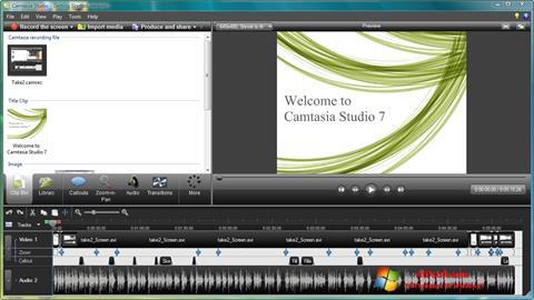 Skærmbillede Camtasia Studio Windows 7