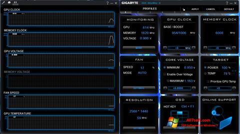 Skærmbillede GIGABYTE OC Guru Windows 7