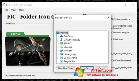Skærmbillede Icon Changer Windows 7