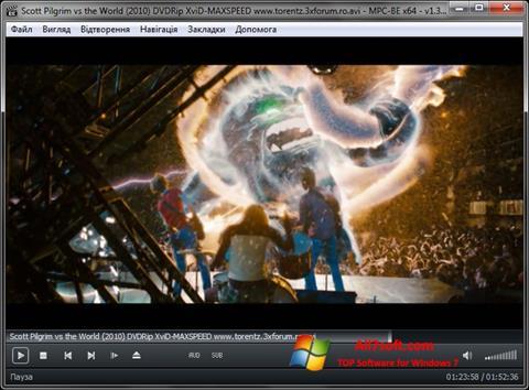 Skærmbillede MPC-BE Windows 7