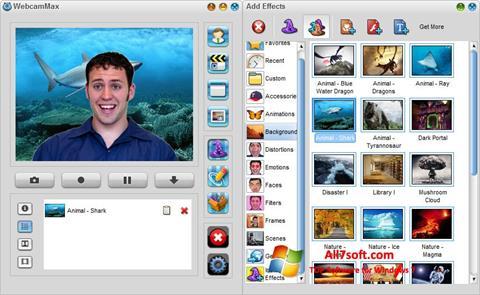 Skærmbillede WebcamMax Windows 7