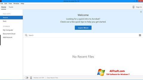Skærmbillede Adobe Acrobat Pro Windows 7