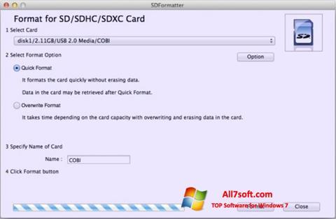 Skærmbillede SDFormatter Windows 7