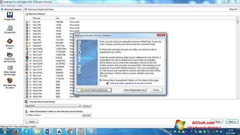 Skærmbillede BadCopy Pro Windows 7