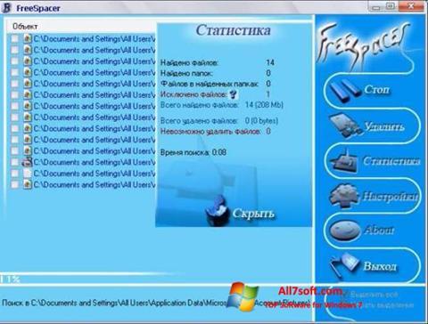 Skærmbillede FreeSpacer Windows 7