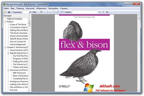 Skærmbillede Sumatra PDF Windows 7