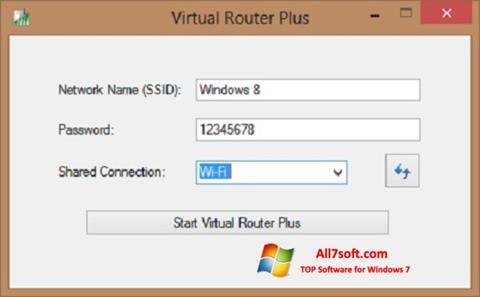 Skærmbillede Virtual Router Plus Windows 7