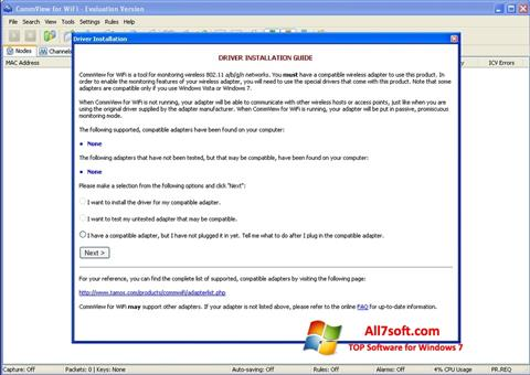 Skærmbillede CommView for WiFi Windows 7