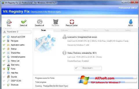 Skærmbillede Vit Registry Fix Windows 7