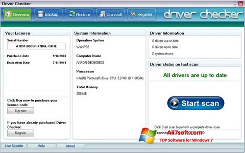 Skærmbillede Driver Checker Windows 7