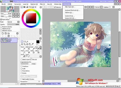 Skærmbillede Paint Tool SAI Windows 7