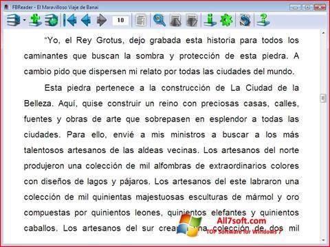 Skærmbillede FBReader Windows 7