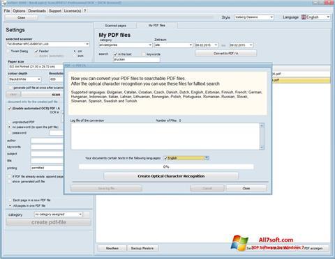 Skærmbillede Scan2PDF Windows 7