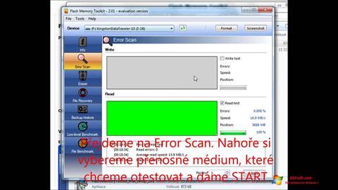 Skærmbillede Flash Memory Toolkit Windows 7
