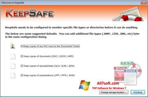 Skærmbillede KeepSafe Windows 7