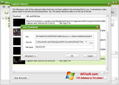 Skærmbillede Free Video Catcher Windows 7