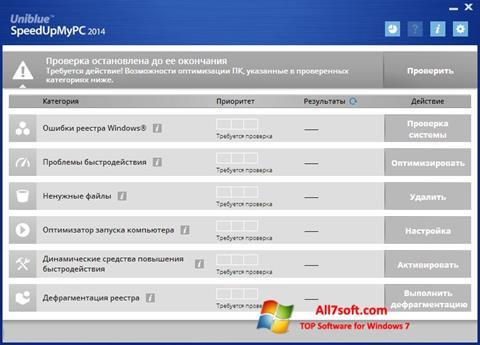 Skærmbillede SpeedUpMyPC Windows 7
