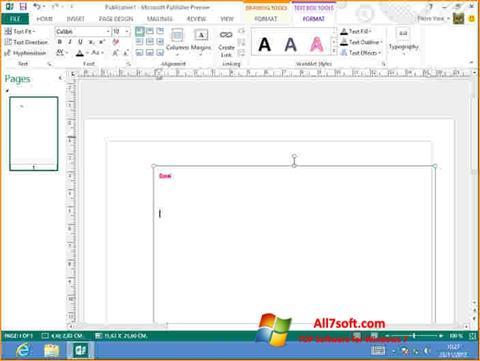 Skærmbillede Microsoft Publisher Windows 7