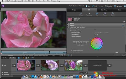 Skærmbillede Adobe Premiere Elements Windows 7