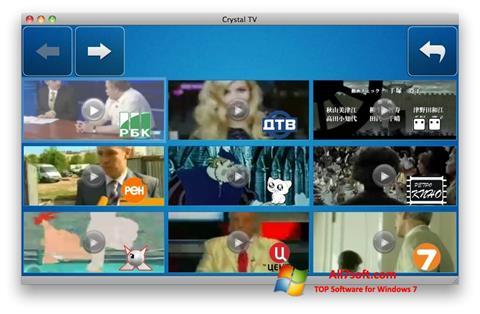 Skærmbillede Crystal TV Windows 7