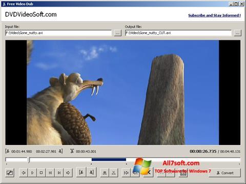 Skærmbillede Free Video Dub Windows 7