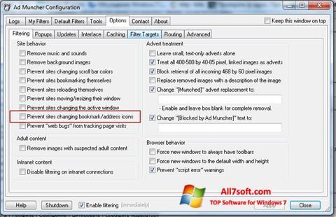 Skærmbillede Ad Muncher Windows 7
