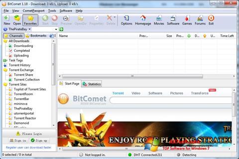 Skærmbillede BitComet Windows 7