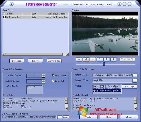 Skærmbillede Total Video Converter Windows 7
