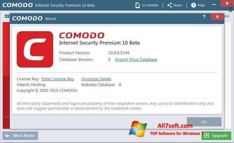 Skærmbillede Comodo Windows 7