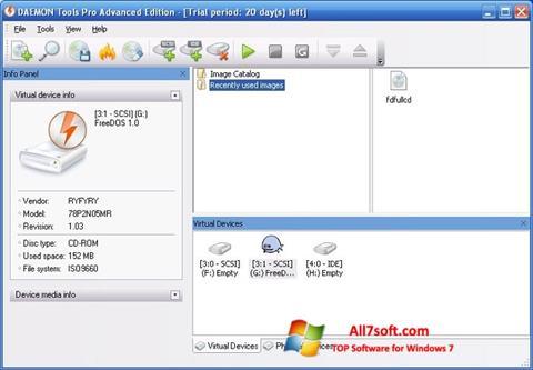 Skærmbillede DAEMON Tools Pro Windows 7