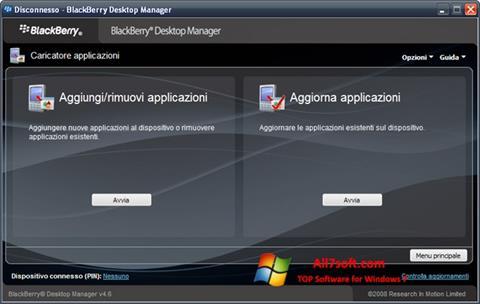 Skærmbillede BlackBerry Desktop Manager Windows 7