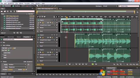 Skærmbillede Adobe Audition CC Windows 7