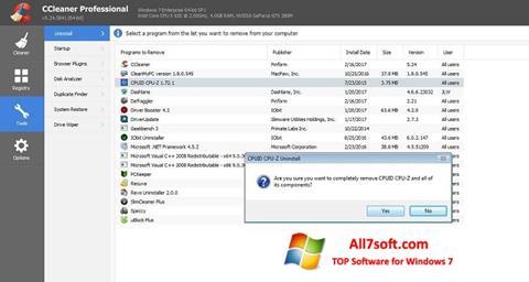 Skærmbillede CCleaner Professional Plus Windows 7