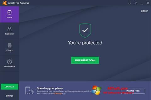 Skærmbillede Avast Free Antivirus Windows 7