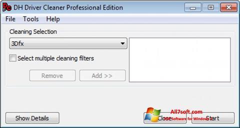 Skærmbillede Driver Cleaner Windows 7
