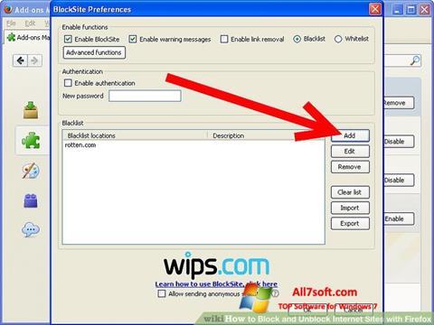 Skærmbillede uBlock Windows 7