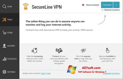 Skærmbillede Avast SecureLine VPN Windows 7