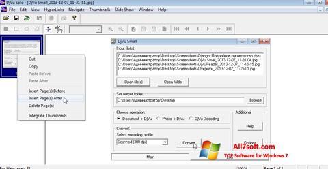 Skærmbillede DjVu Solo Windows 7