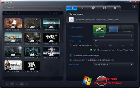 Skærmbillede Mirillis Action! Windows 7