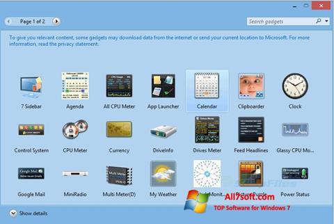Skærmbillede 8GadgetPack Windows 7