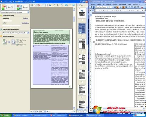 Skærmbillede ABBYY PDF Transformer Windows 7