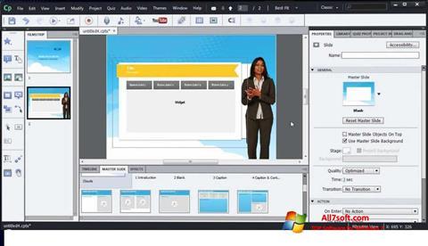 Skærmbillede Adobe Captivate Windows 7