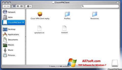 Skærmbillede Cisco VPN Client Windows 7